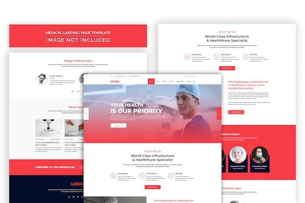 Modello premium psd del sito web di assistenza sanitaria e farmacia