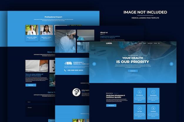 Modello psd del sito web di assistenza sanitaria e farmacia