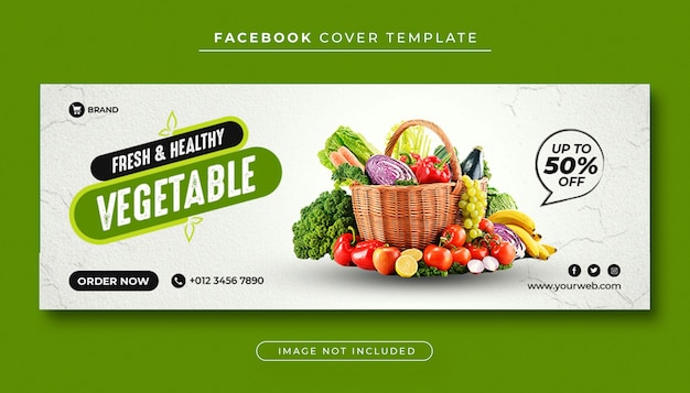 Copertura facebook di cibo sano e verdura