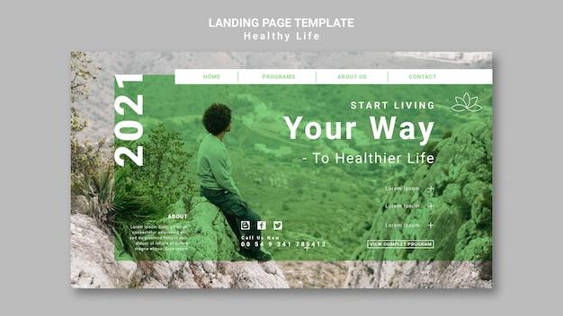 Pagina di destinazione di uno stile di vita sano
