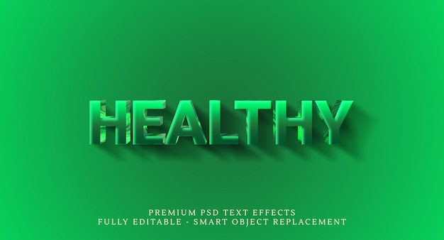 Effetto psd stile di testo sano, effetti di testo psd premium