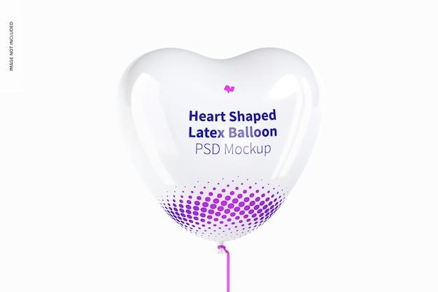 Mockup di palloncino in lattice a forma di cuore