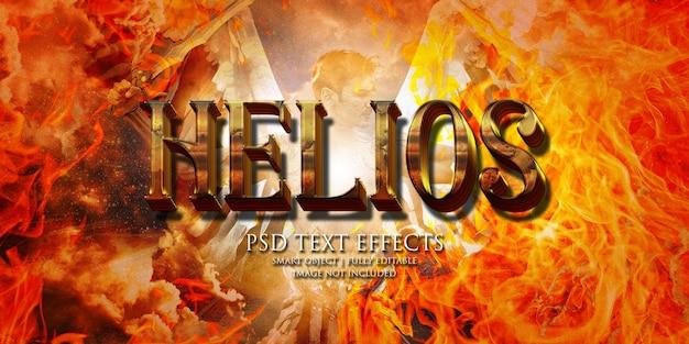 Effetto testo helios