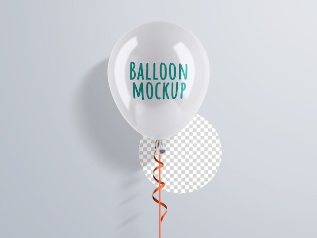 Mockup di palloncino di elio con nastro