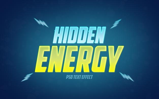 Mockup di effetti di testo con energia nascosta
