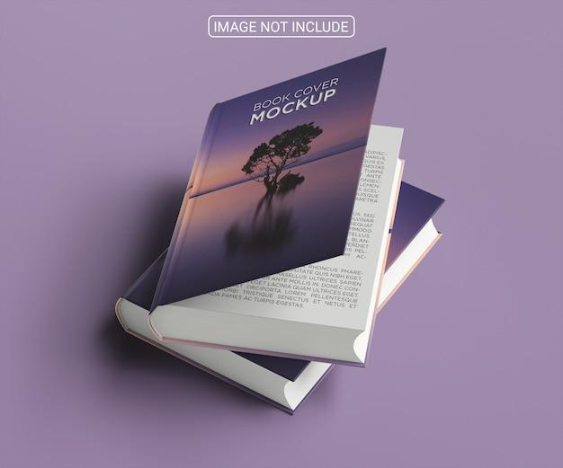 Disposizione del mock-up della copertina del libro minimalista ad alto angolo