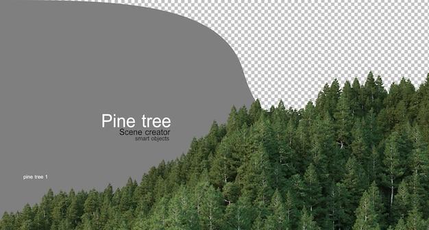 Alta montagna con pini vari tipi di adulti Psd Premium