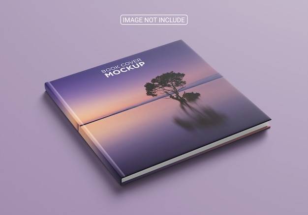 Mockup di copertina del libro quadrato ad alta vista