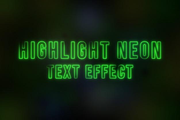 Evidenzia l'effetto del testo al neon