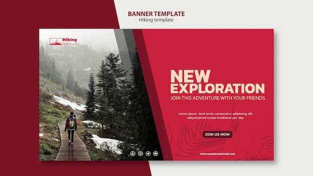Modello di banner escursionismo