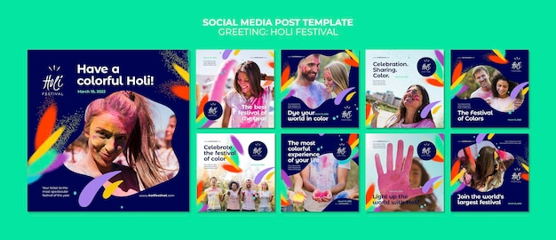 Post sui social media del festival holili