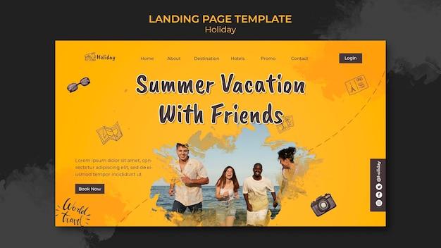 Modello di pagina di destinazione delle vacanze