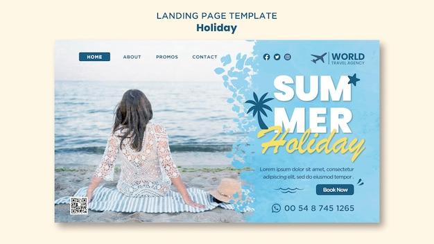 Pagina di destinazione delle vacanze