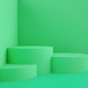 Fase geometrica olografica 3d per posizionamento del prodotto con sfondo e colore modificabile