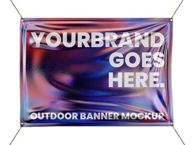 Modello di mockup di banner olografico