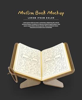 Sacro corano per il mockup del libro musulmano del ramadan
