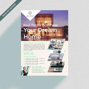 Modello di copertina dell'opuscolo di casa