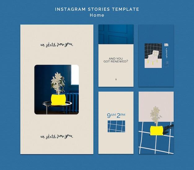 Modello di storie di instagram di decorazione domestica