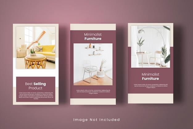 Modello di storie di instagram per mobili per la casa