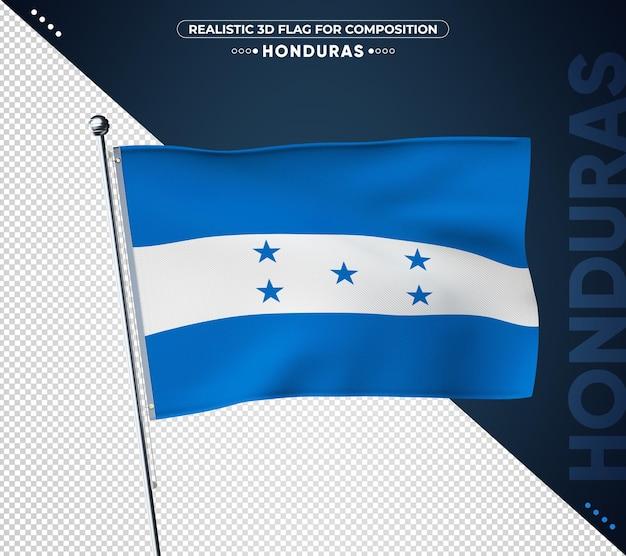 Bandiera dell'honduras con texture realistica