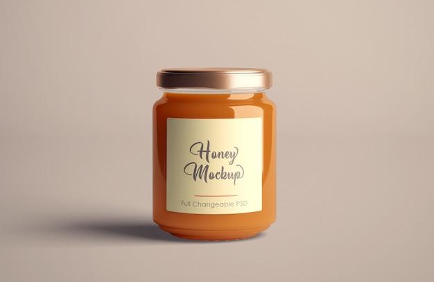 Mockup di barattolo di miele isolato