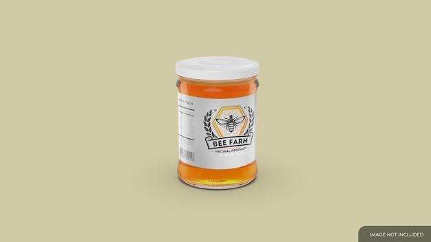 Mockup di vasetto di miele