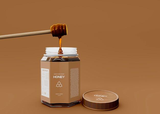 Mockup di barattolo di miele