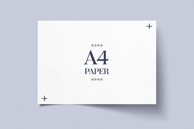 Mockup di carta orizzontale a4