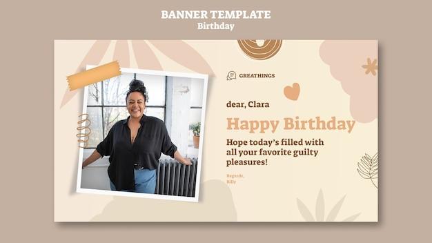 Banner orizzontale per la festa di compleanno