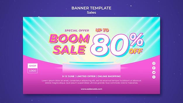 Modello di banner orizzontale per super vendita