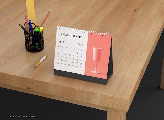 Modello di calendario da tavolo orizzontale