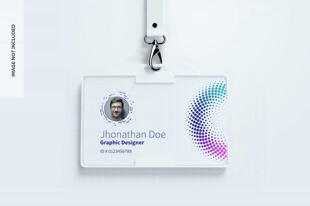 Mockup carta d'identità orizzontale