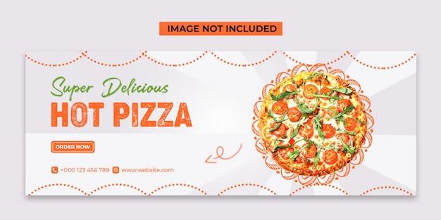 Social media pizza calda e modello di post di instagram