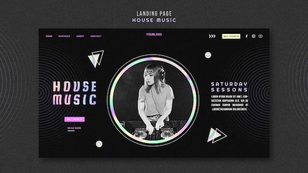 Modello di pagina di destinazione della musica house