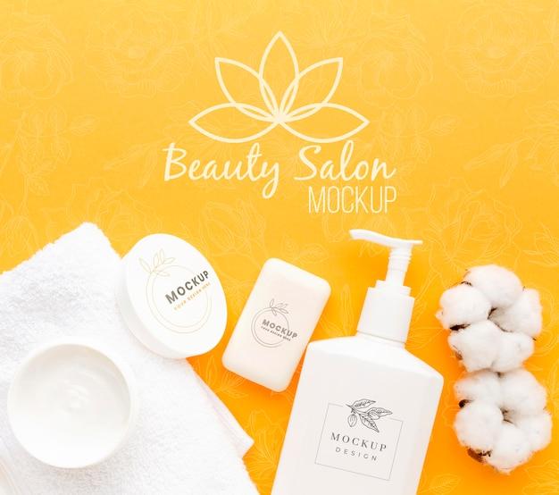 Mock-up del concetto di igiene e bellezza
