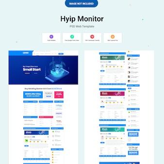 Modello web di hyip monitor