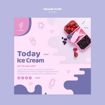 Volantino quadrato concetto gelato