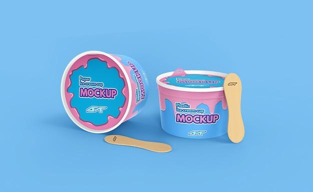 Mockup tazza di gelato