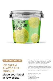 Mockup di coppe gelato