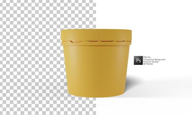 Progettazione 3d dell'illustrazione del mockup del gelato