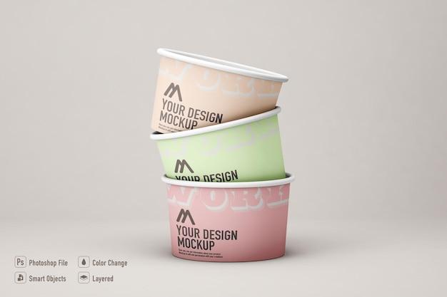 Mockup di gelato isolato