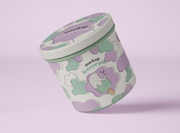 Mockup di packaging per gelato