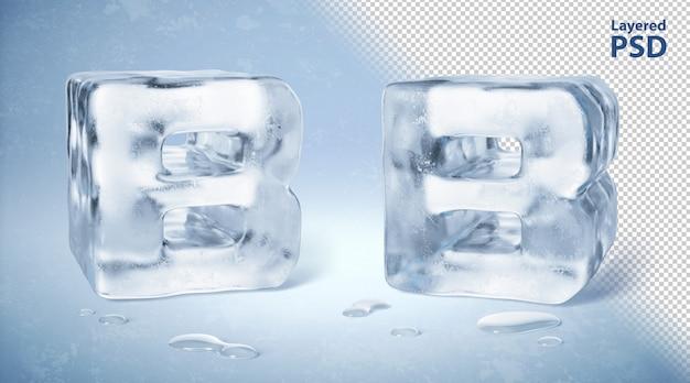 Il cubetto di ghiaccio 3d ha reso la lettera b