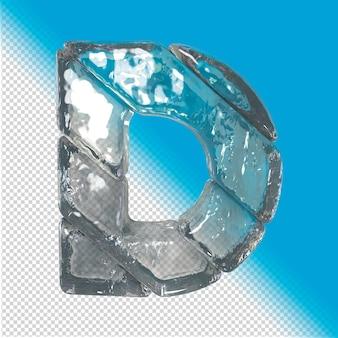 Lettere effetto ghiaccio rendering 3d