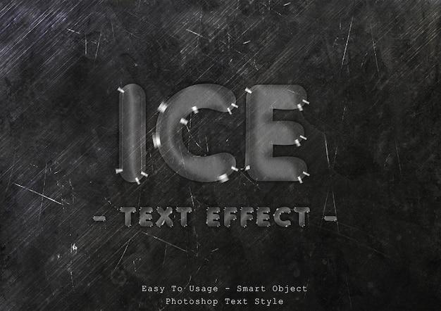 Effetto stile testo ghiaccio