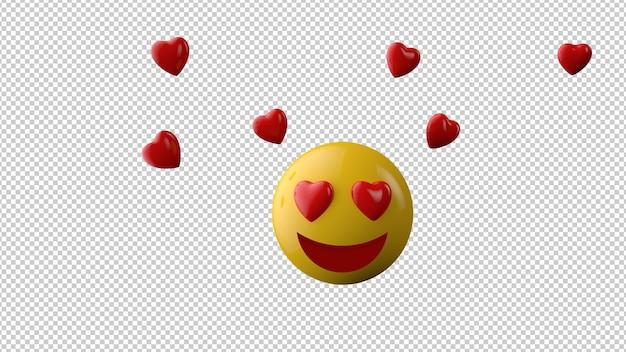 Icona emoji sorriso su uno sfondo trasparente Psd Premium