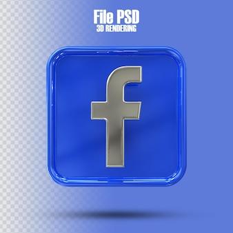 Icona facebook 3d rendering
