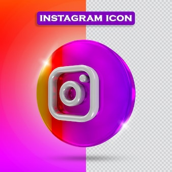 Icona instagram 3d rendering
