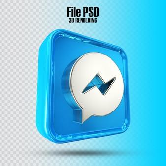 Icona messenger 3d rendering