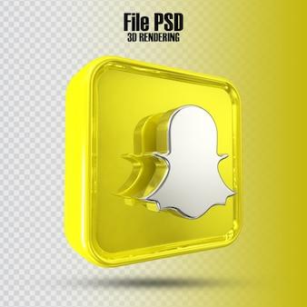Icona snapchat 3d rendering